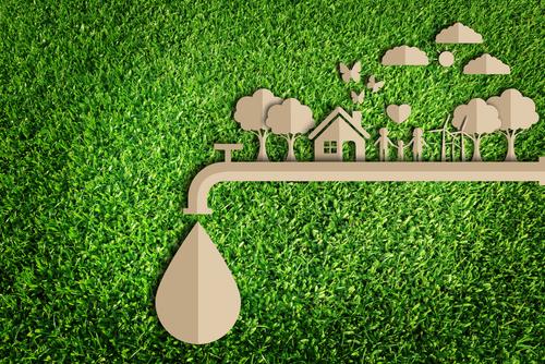 illustrazione su risparmiare acqua